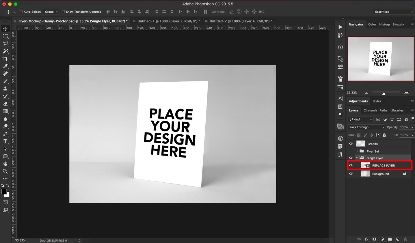 Free Photoshop Flyer mockups